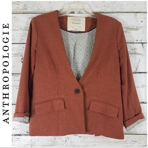 Cartonnier by Anthropologie Burnt Orange Blazer